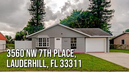 3560 NW 7th Place, Lauderhill, FL 33311