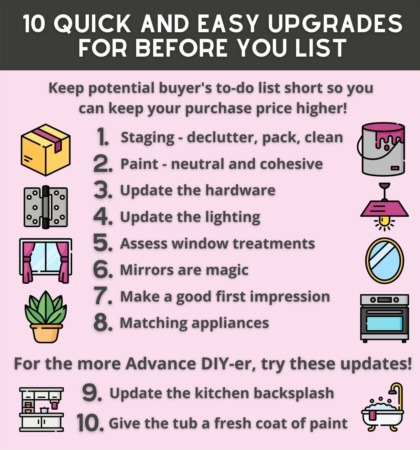 10 Quick and Easy Upgrades for Before You List