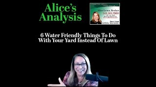 Six Water Friendly Things instead of a Lawn
