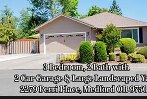 2279 Perri Place Medford Oregon for Sale