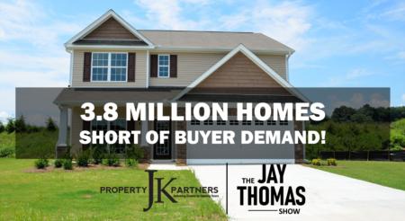 U.S. Housing Market is 3.8 Million Homes Short of Demand