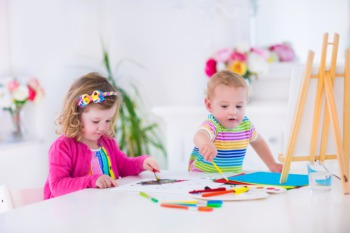 Watch the Little Ones Make Toddler Art January 29