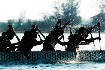 Practice Dragon Boat Racing on the River July 16