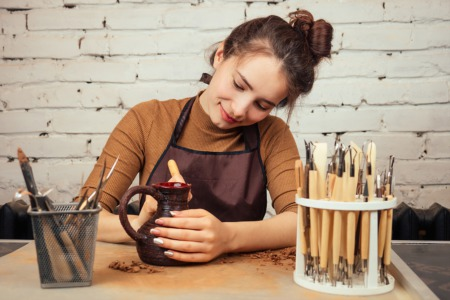 Have a Romantic Pottery Experience at the Magpie Clay Studio February 10