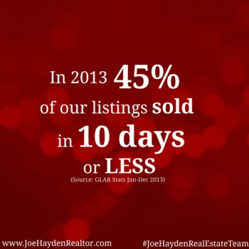 Joe Hayden Real Estate Team Statistics 2013
