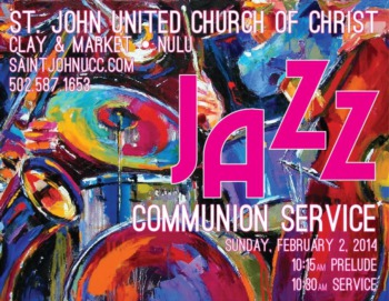 Jazz Communion Service at St. John United Church of Christ February 2nd