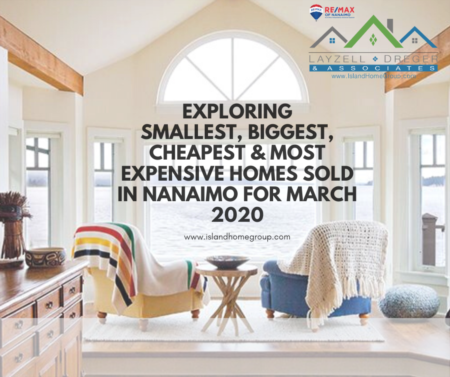 Smallest, Largest & Most Expensive Nanaimo Homes Sold March 2020