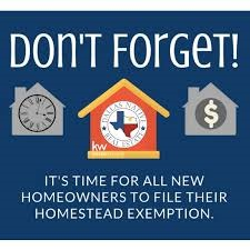 2021 Texas Residence Homestead Exemption