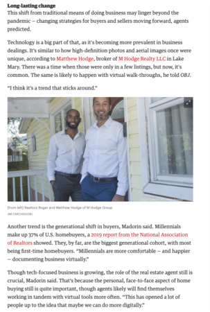M Hodge Group Featured in Orlando Business Journal