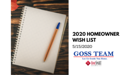 2020 Homeowner Wish List