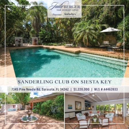 Featured Property: Private Oasis with Pool & Guesthouse on Siesta Key
