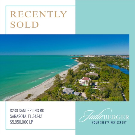 Recently Sold on Siesta Key: Spectacular 2-Acre Gulf Front Estate