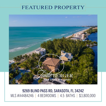 Featured Property: Amazing Gulf Views and Boating Water on South Siesta Key