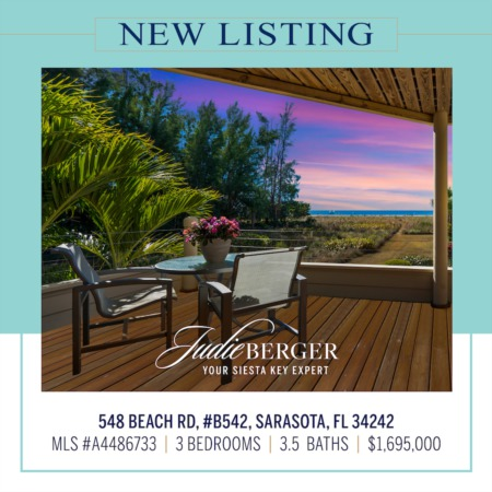 New Listing: Amazing Views of Siesta Beach and the Gulf of Mexico