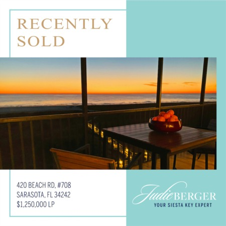 Just Sold on Siesta Key!