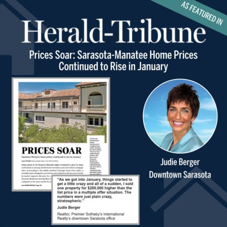 Sarasota-Manatee Home Prices Soar in January