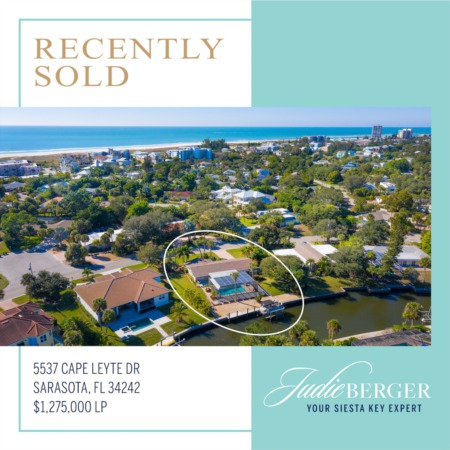 Recently Sold Near Siesta Beach: Renovated Pool Home on Deep Boating Water