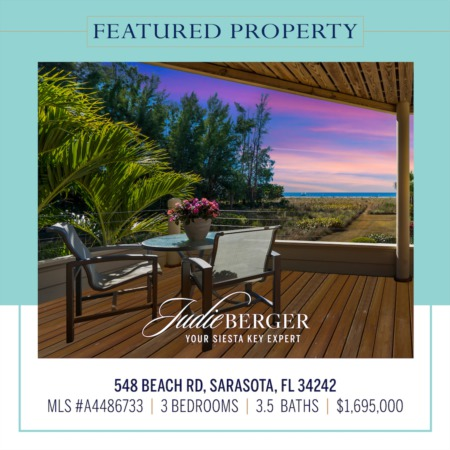 Featured Property: Amazing Views of Siesta Beach and the Gulf of Mexico