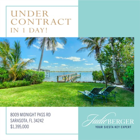 Siesta Key Bayfront Under Contract in 1 Day!