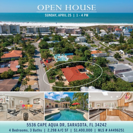 SEE IT FIRST! Newly Listed on Siesta Key and OPEN SUNDAY 1-4 PM