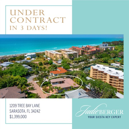 Under Contract in 3 Days on Siesta Key