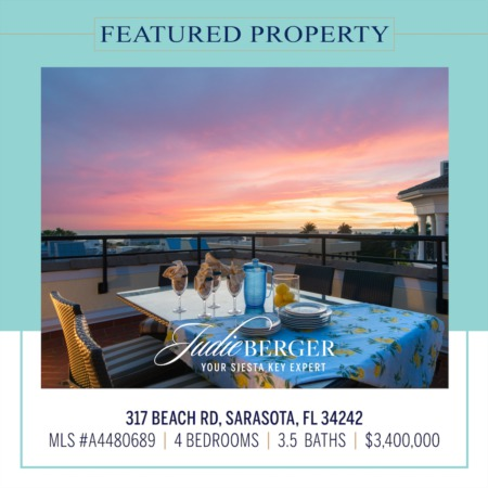 Featured Property of the Day: Amazing Views of Siesta Beach and the Gulf of Mexico