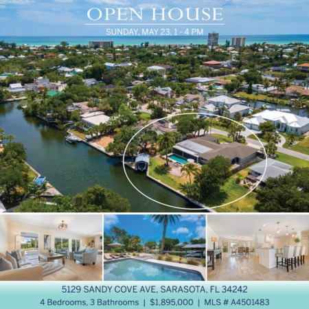 SEE IT FIRST! Newly Listed on Siesta Key and OPEN 5/23 SUNDAY 1-4 PM