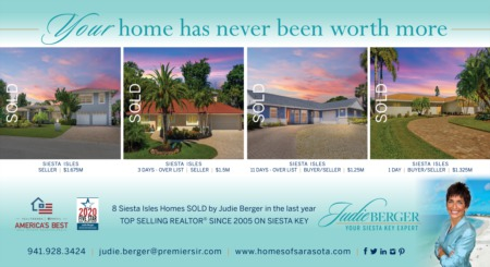 Your Home Has Never Been Worth More in Siesta Isles