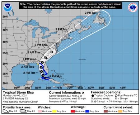 Sarasota County Closures Ahead of Tropical Storm Elsa