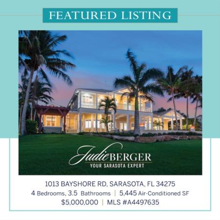 Live Inspired: Private Coastal Estate on Little Sarasota Bay