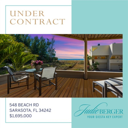 Under Contract: Stunning Views of the Gulf of Mexico and Siesta Beach