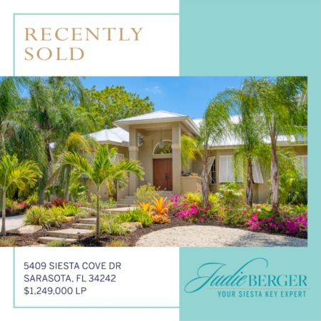Recently Sold on Siesta Key: Perfectly Located Between the Beach and the Bay