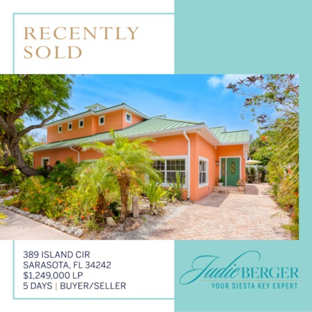 Recently Sold on Siesta Key: Beautiful Pool Home Near Beach