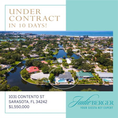 Under Contract in 10 Days on Siesta Key!