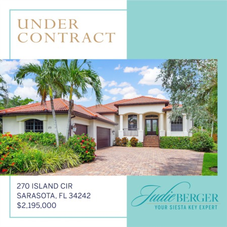 Under Contract: Casual Elegance on Boating Water Near Siesta Beach