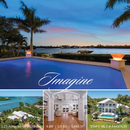 IMAGINE: Private 1.23-Acre Estate on Sarasota Bay