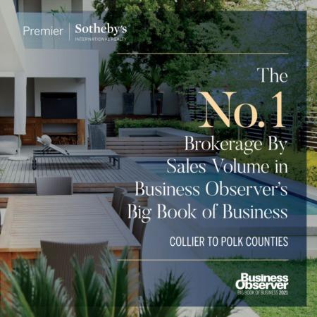 Premier Sotheby's International Realty No. 1 Brokerage in Southwest Florida