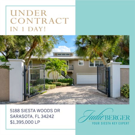 Siesta Key Properties on the Move: Under Contract in 1 Day!