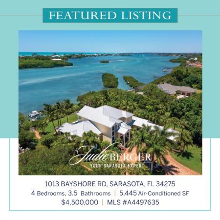 New Price: Private 1.23-Acre Estate on Sarasota Bay