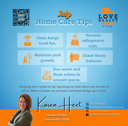 July Home Care Tips!