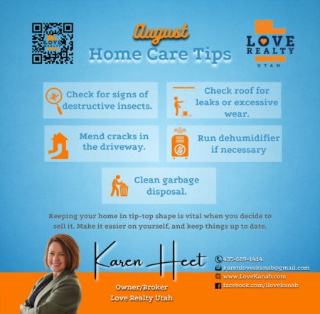 August Home Care Tips 2021