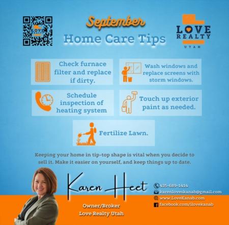 September Home Care Tips