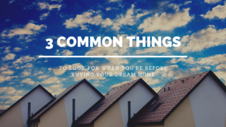 3 Common Things to Look Out for Before Buying Your Dream Home