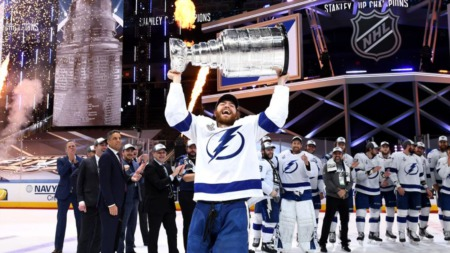 Tampa Bay Lightning Celebrating Stanley Cup