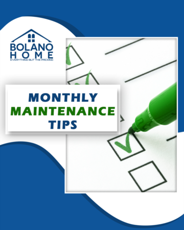 Monthly Maintenance Tips