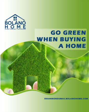 Go Green When Buying A Home