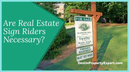 Are Real Estate Sign Riders Necessary?