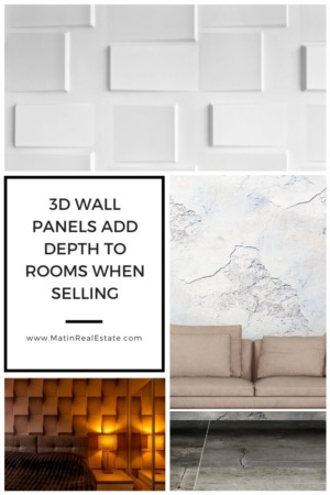 3D Wall Panels Add Depth to Rooms When Selling