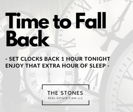 Set Clocks Back Tonight 2020