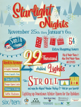 Starlight Nights In Winter Haven - Starting November 25th, 2020